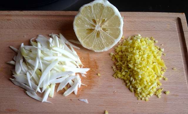 The pith and zest produced by half a Cedro lemon