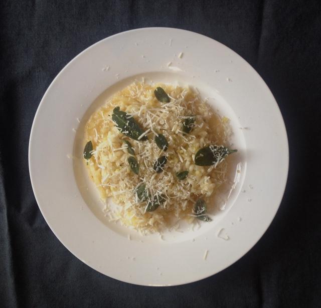 Cedro lemon risotto with crisp sage